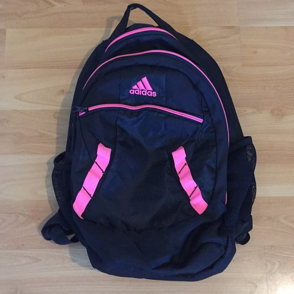 80463ae5c951 adidas Handbags - Black and Pink Adidas Backpack in great condition